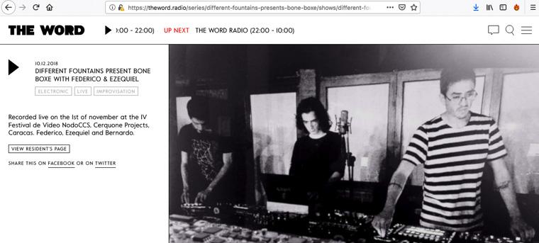 Federico Blank, Bernadrdo Risquez y Ezequiel Pizzaani Live @ Nodo CCS - The Word Radio